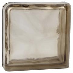 Завершающий стеклоблок коричневый окраска в массе Vitrablok 19x19x8