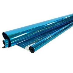 Рулон пленка Голография Синяя, 190гр, 40 мкр, 70 см * 7,1 м