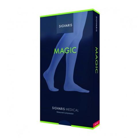 Чулки до паха на резинке Sigvaris Magic, 2 класс компрессии, закрытый мысок