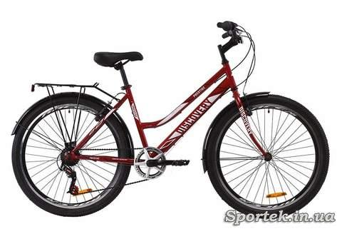 Рубиновый городской женский велосипед Discovery Prestige Woman (Дискавери Престиже Вумэн)