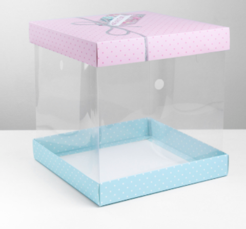 Складная коробка под торт Have a nice day, 30 × 30 см