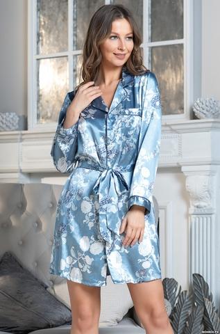 Рубашка  женская Mia-AMORE PARIS PIONS ПАРИЖ ПИОН голубой 8997