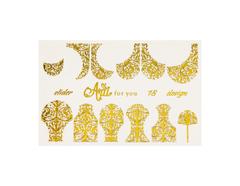 Фольга для дизайна ногтей золото 18