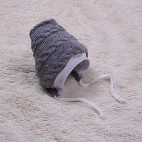 Вязаная шапочка Weave с подкладом (серая)