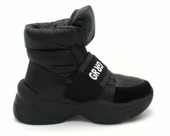 Ботинки зимние комбинированные на платформе