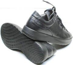 Черные осенние кроссовки кеды с черной подошвой мужские Ikoc 1725-1 Black.