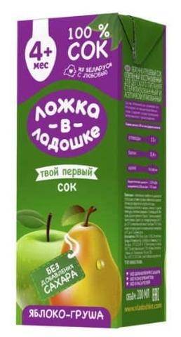 Сок Яблоко-груша 200мл. Ложка в ладошке