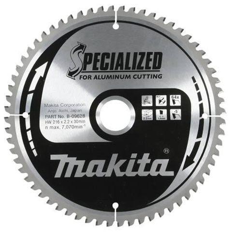 Диск по алюминию Makita 180х30/20/15,88х2,4 мм /60, 0°, TCG