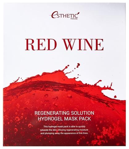 ESTHETIC HOUSE Гидрогелевая маска для лица КРАСНОЕ ВИНО Red Wine Regenerating Solution Hydrogel Mask Pack, 1 шт
