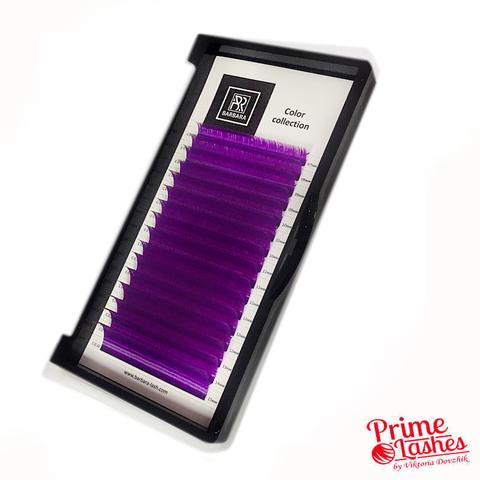 Ресницы Barbara цветные микс 16 линий, Фиолетовые