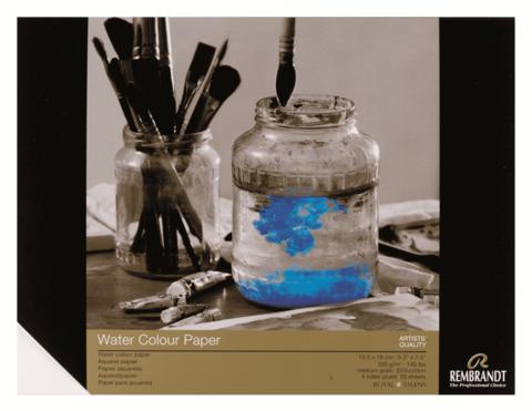 Альбом для акварели Rembrandt 300 г/м2 13.5*18см 20л 25% хлопок склейка по 4 сторонам