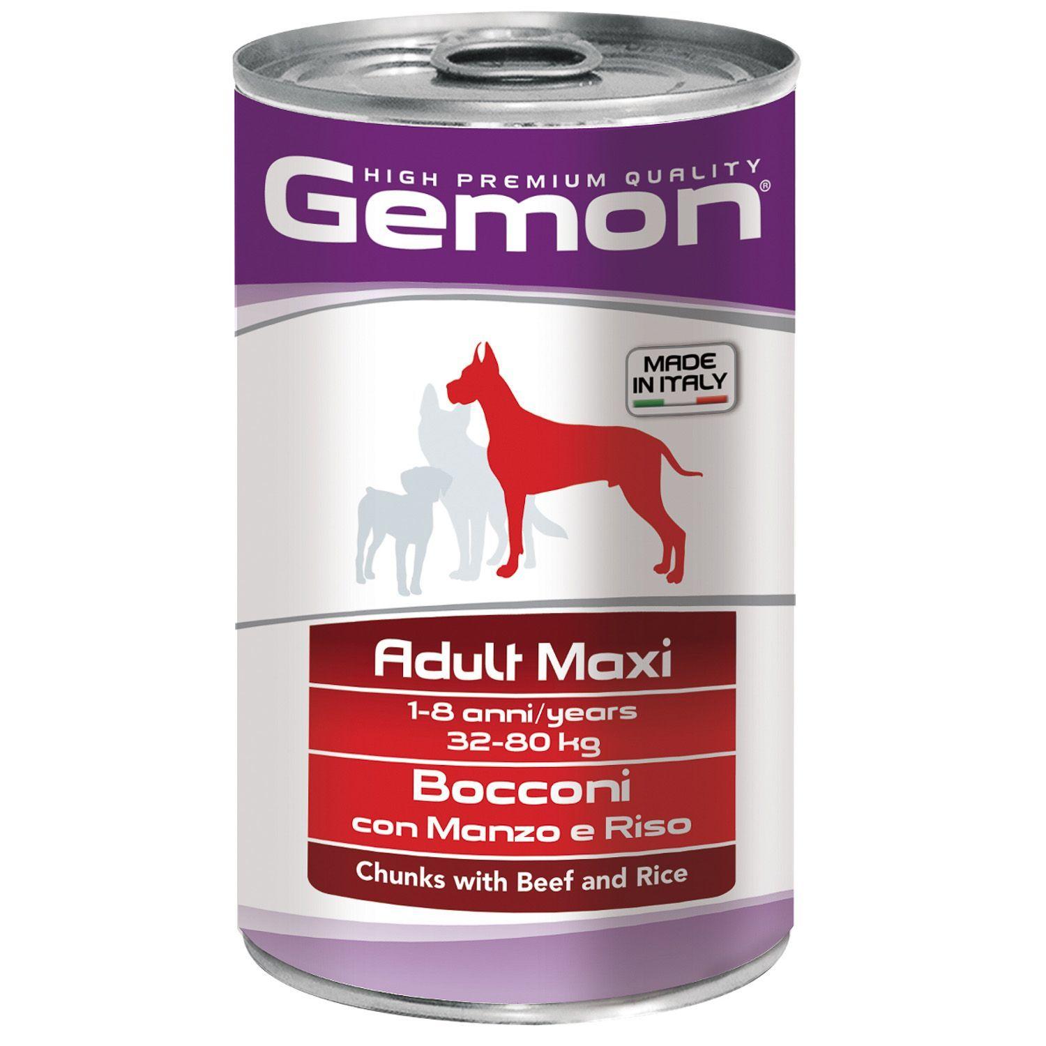 Gemon Консервы для собак крупных пород Gemon Dog Maxi кусочки говядины с рисом 70387903_1.jpeg