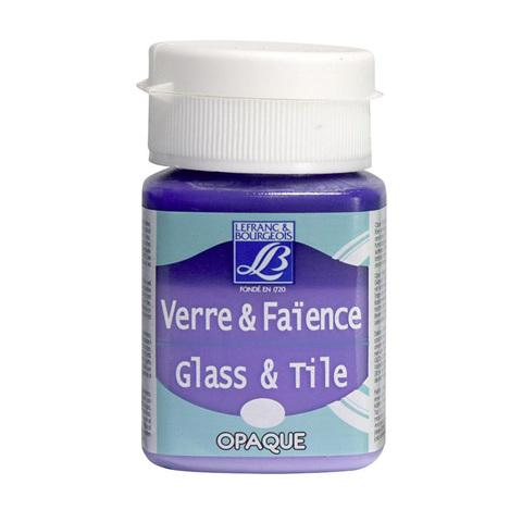 Краска по стеклу и керамике Lefranc&Bourgeois Glass&Tile 50 мл Непрозрачная 640, лаванда