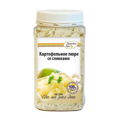Картофельное пюре со сливками в ПЭТ-банке 'Здоровая еда', 330 г