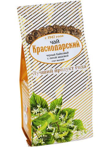 Чай Краснодарский черный с липой медовой, 100 гр. (Мацестинская ЧФ)
