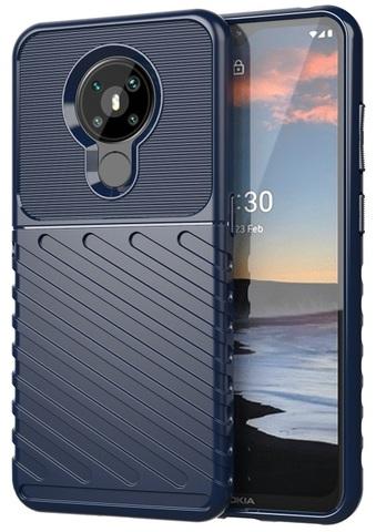 Чехол для Nokia 5.4, противоударный темно-синего цвета, серии Onyx от Caseport