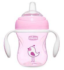 Chicco. Поильник Transition Cup (силиконовый носик), 200 мл, 4+, розовый