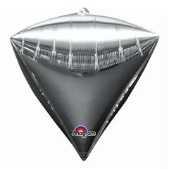 А Алмаз 3D, Металлик Silver (Серебро), 17