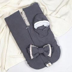 СуперМамкет. Конверт-одеяло всесезонное Мультикокон ®, Denim, мокрый асфальт вид 5