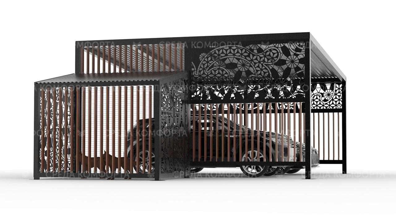 Навес для автомобиля AVNVS0060