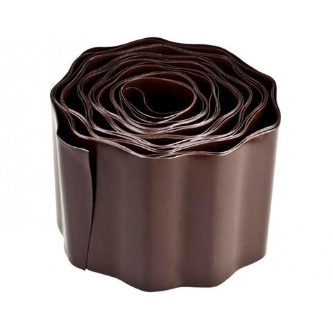 Лента бордюрная гофрированная h20см 9м цвет коричневый Урожайная сотка