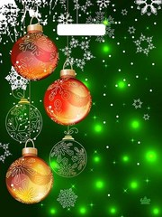 Пакет новогодний с вырубной ручкой 31х40 (60)  НГ (Шары в зеленых огнях) 50 шт Россия