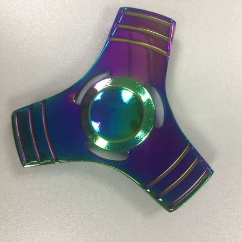 Спиннер металлический классической формы цвет хамелеон trngl_001_haml