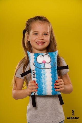 Подушка-игрушка антистресс Gekoko «Теплый кот», голубой