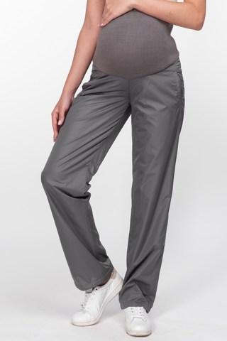 Утепленные брюки для беременных 03254 серый