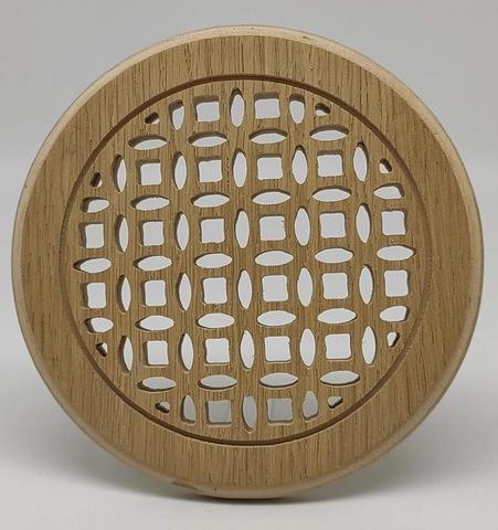 Решетка декоративная деревянная круглая на магнитах Пересвет К-35 d100мм