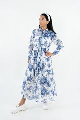 Платье с цветочным принтом макси