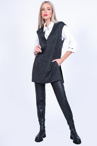 <p>Супер модный удлиненный жилет свободного силуэта. Вырез горловины V-образный. По бокам разрезы. Жилет тлично подойдет для прогулок в прохладное время года, а так же для утепления , Вы можете надеть его в холод под куртку.&nbsp;</p>