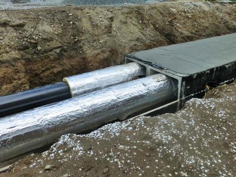СТУ-Ф: теплогидроизоляционная конструкция, кашированная алюминиевой фольгой толщиной 50 мкм