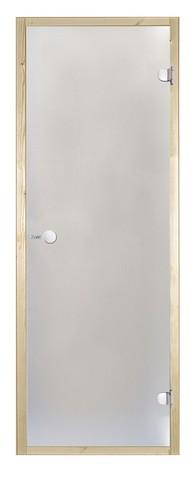 Дверь стеклянная Harvia 8х19, коробка сосна, стекло прозрачное, артикул D81904M