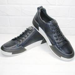 Мужские кроссовки кеды на осень Luciano Bellini C6401 TK Blue.