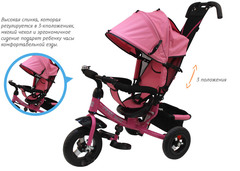 Детский трёхколёсный велосипед с ручкой ( розовый ) Sweet baby - колёса надувные
