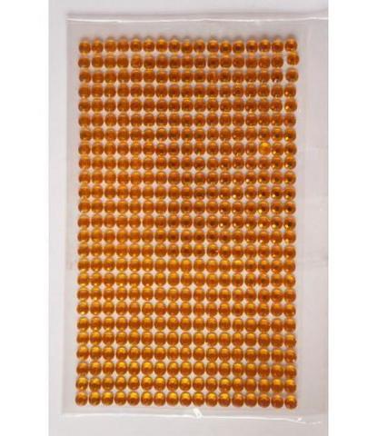 Стразы оранжевые 5 мм длинные
