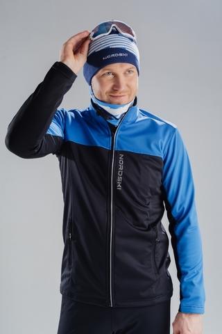 Разминочная куртка Nordski Activе Blue/Black мужская