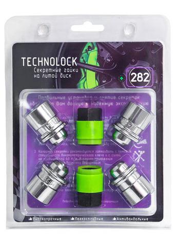 Готовый набор из колёсных гаек М12x1.5 и комплекта секреткок TECHNOLOCK 282