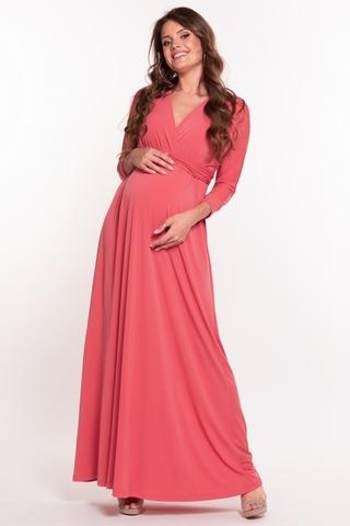 Платье для беременных 10623 коралл
