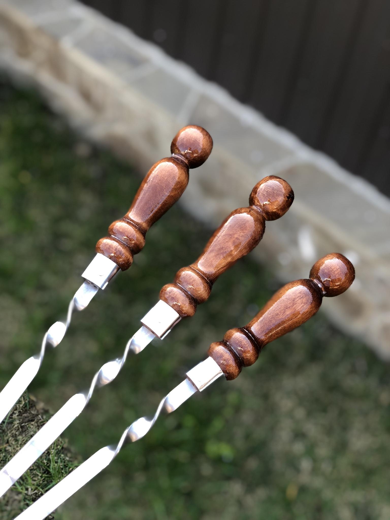 """Шампуры из нержавейки Шампур с деревянной ручкой 3мм """"Шар кольцо"""" (ширина 12мм) №8 IMG_2731.JPG"""