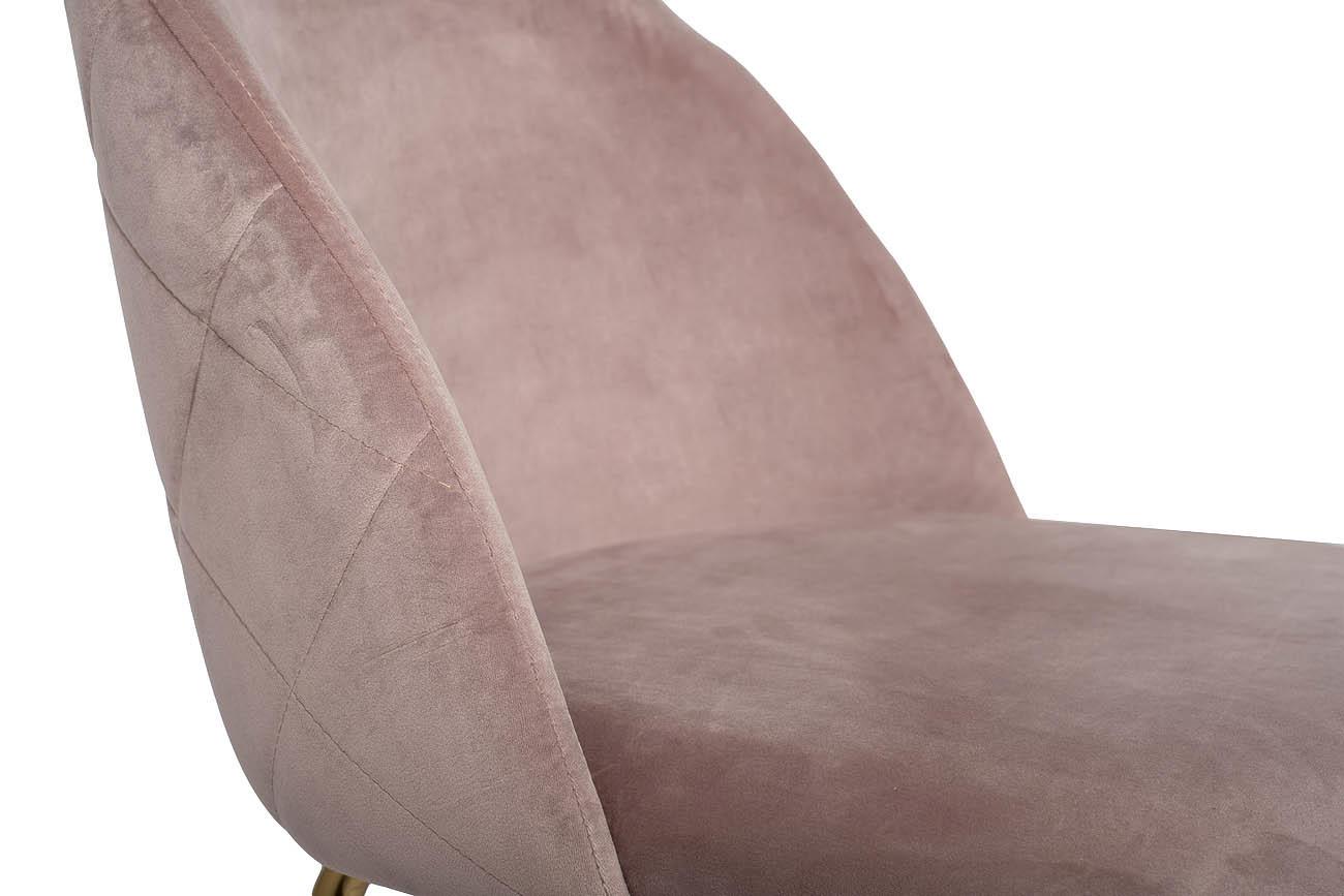 Стул 30C-301-1G LPI велюр пепельно-розовый, мет.ножки 50*53*77см