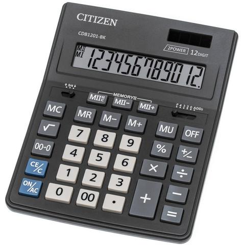 Калькулятор настольный ПОЛНОРАЗМЕРНЫЙ Citizen BusinessLine CDB1201-BK 12-разрядный черный