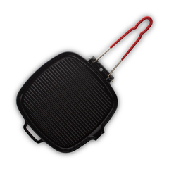 Сковорода гриль, 27,5х25,5х3 см, чугун с эмалированным покрытием, цвет черный, серия Noir mat, 327201, INVICTA, Франция