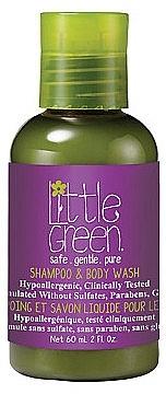 Шампунь и гель для тела Little Green Без Слез Shampoo & Body Wash KIDS 60 мл