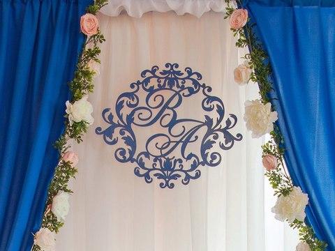 Герб дизайн №3 в ультрамариновом цвете