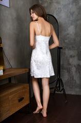Белое шелковое платье сорочка Mia-Mia