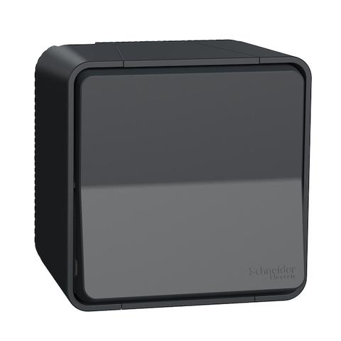 Выключатель/переключатель одноклавишный (схема 6) в сборе. ЦветАнтрацит. Schneider Electric(Шнайдер электрик). Mureva styl(Мурева стайл). MUR35021
