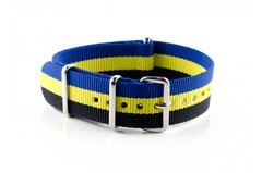 Nato Strap Black Lemon Blue