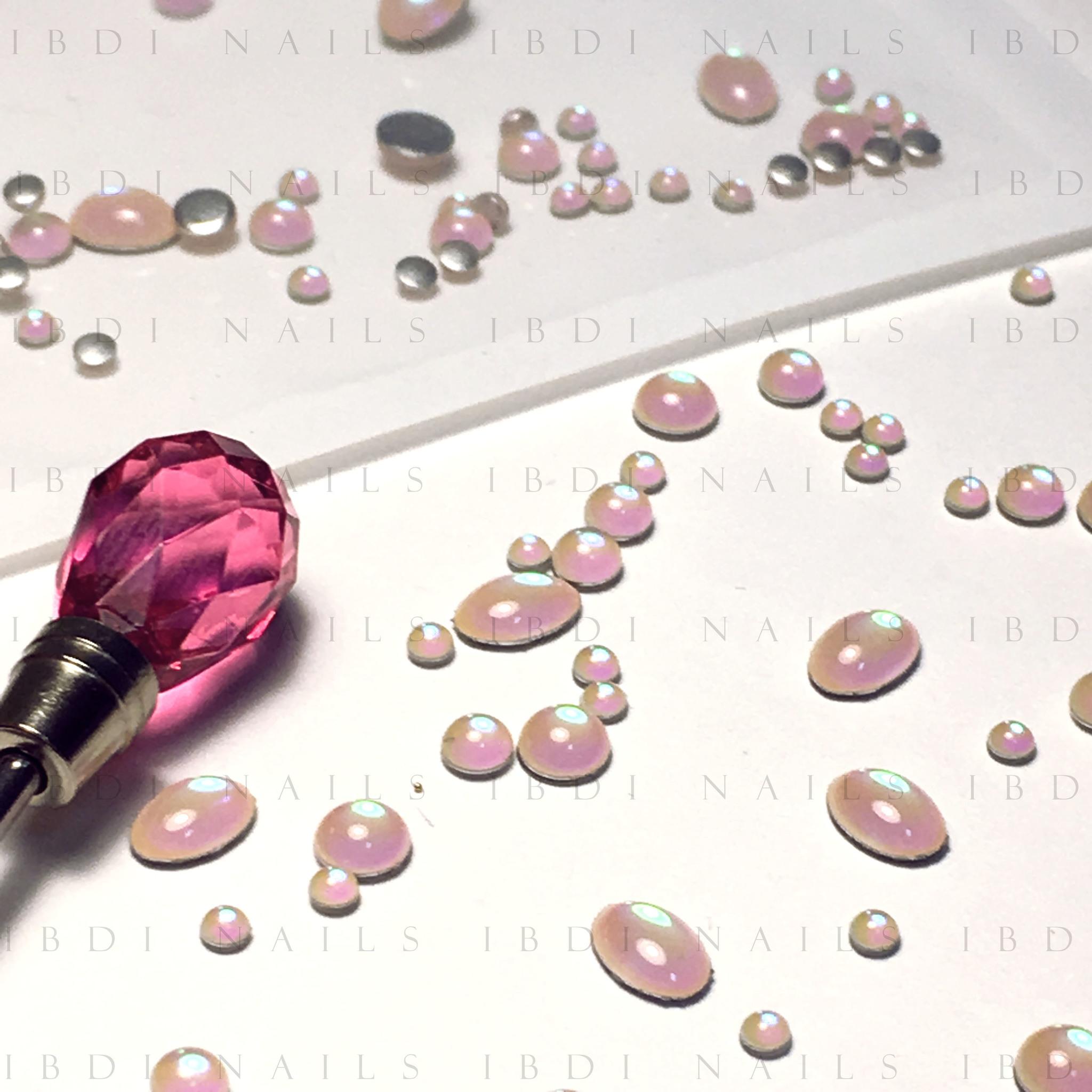 Камни Лунный камень / розовый MIX